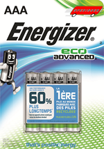 Blister de 4 piles Energizer Eco Advanced LR03 - AAA - 1.5V