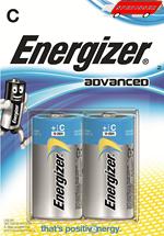 Blister de 2 piles Energizer Advanced LR14 - C - 1.5V