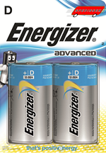 Blister de 2 piles Energizer Advanced LR20 - D - 1.5V