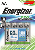 Blister de 4 piles Energizer Eco Advanced LR6 - AA - 1.5V
